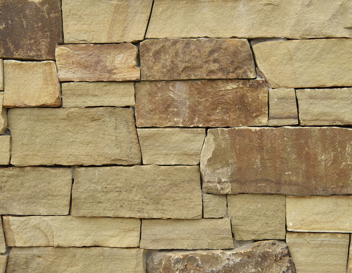 Golden Harvest Stone Veneer Natural Ledgestone on rock wall project