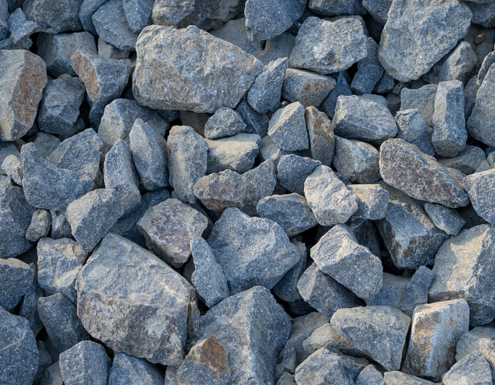 Cresta crushed stone rubble in bulk at rock yard 2