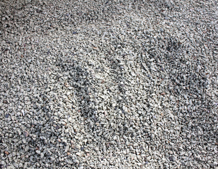 Zeolite construction rock and sand in bulk at rock yard