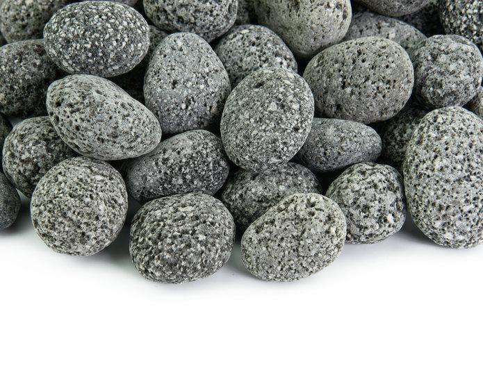 Black Mauna Loa landscape pebble closeup texture