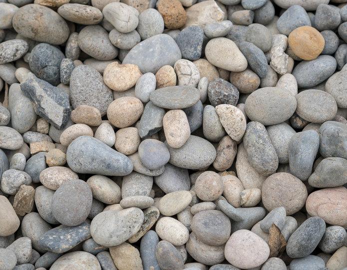 Santa Fe landscape cobblestone pebble in bulk at rock yard 4