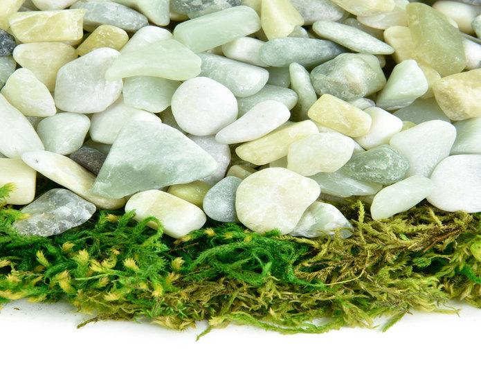 Jade Polished decorative pebble closeup texture