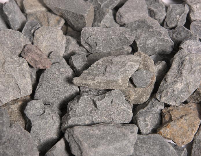 Bluestone crushed stone rock in bulk at rock yard