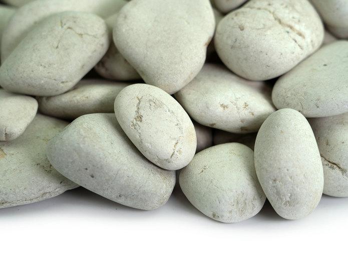 Ivory Polynesian landscape pebble closeup texture