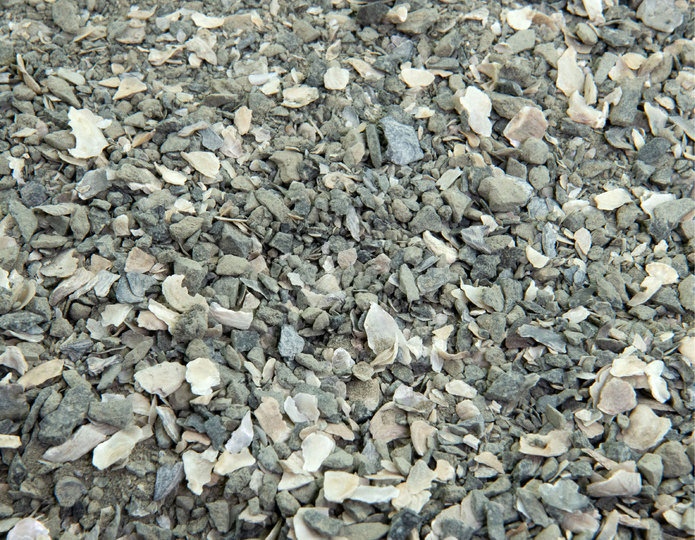 Gray Bocce Blend landscape groundcover in bulk at rock yard 2