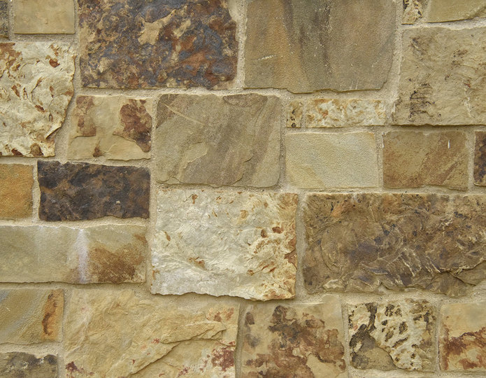 Southern Valley Stone Veneer Natural Ledgestone on rock wall project