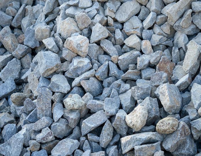 Cresta crushed stone rubble in bulk at rock yard 2