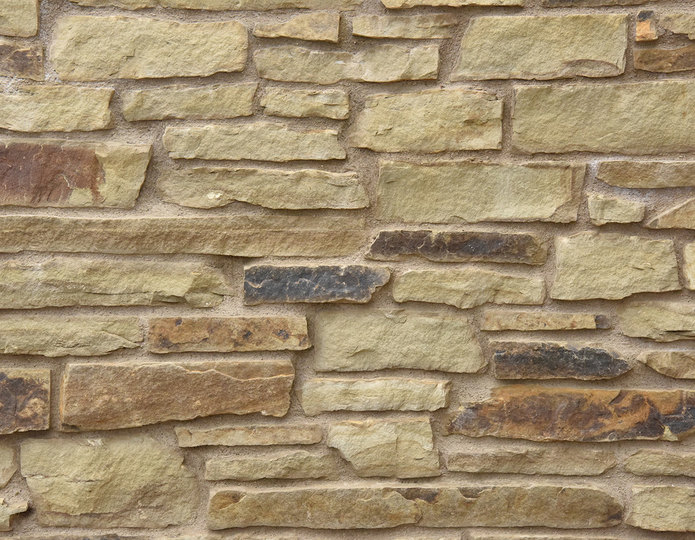 Hillside Stone Veneer Natural Ledgestone on rock wall project