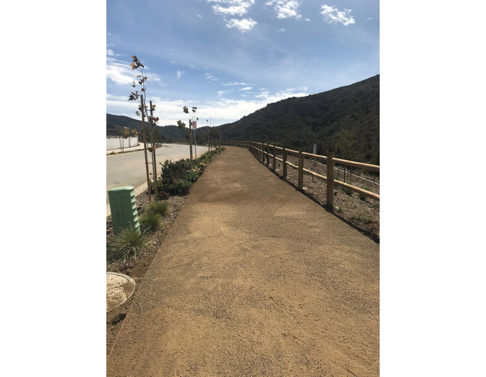Paradise gold decomposed granite fines pathway installed at commercial park