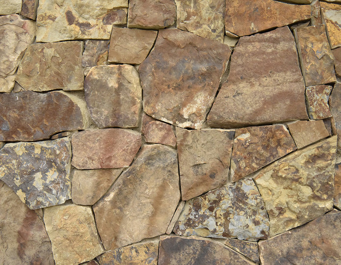 Rustic Rubble Stone Veneer Natural Ledgestone on rock wall project