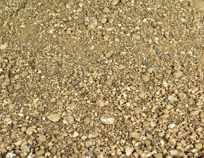 Desert Gold decomposed granite in bulk at rock yard