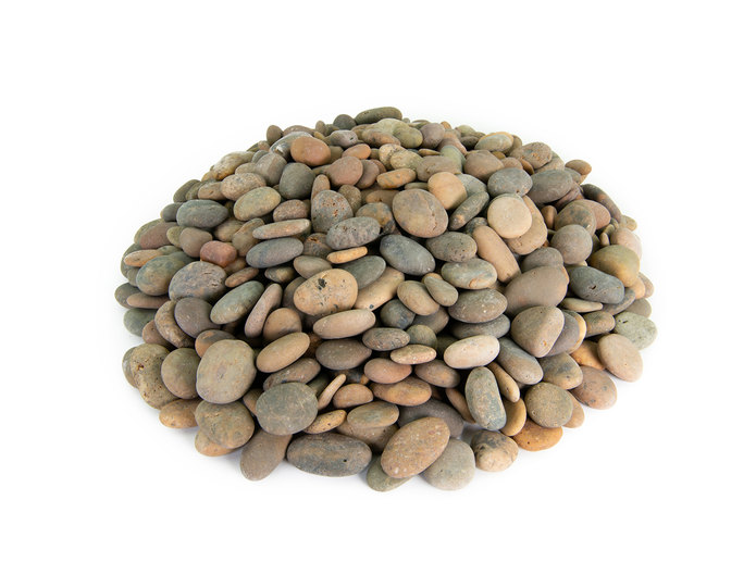 Mexican beach pebble buff buttons in bulk at rock yard