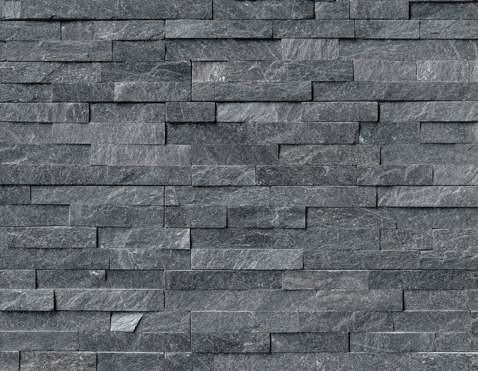 Coal Canyon Stone Veneer Natural Ledgestone on rock wall project 2