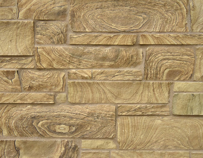 Wild Horse Stone Veneer Natural Ledgestone on rock wall project