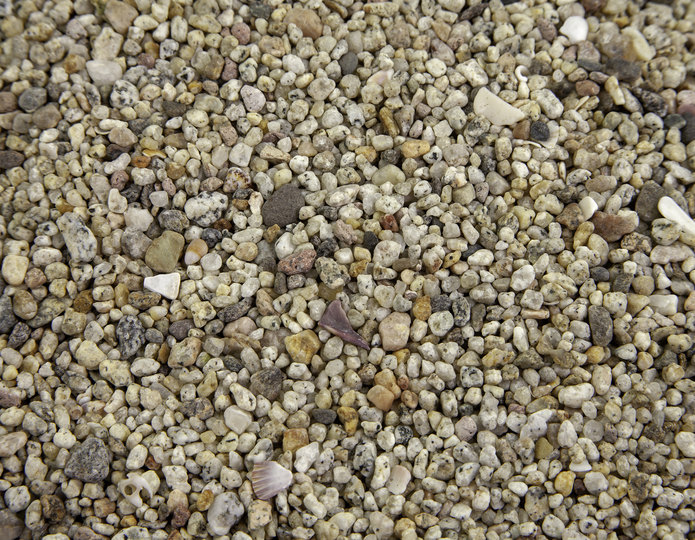 White Criva landscape pebbles in bulk at rock yard