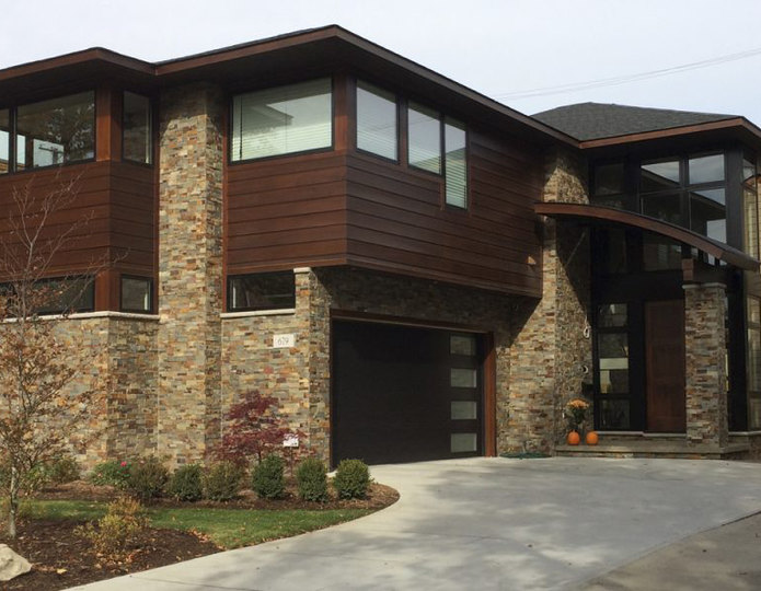 Realstone Accentstone Terracotta Panel on modern house
