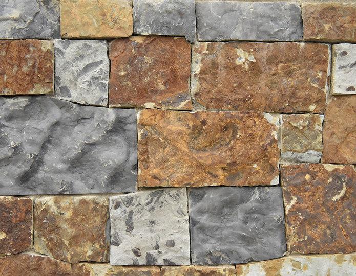 Copper Mine Stone Veneer Natural Ledgestone on rock wall project