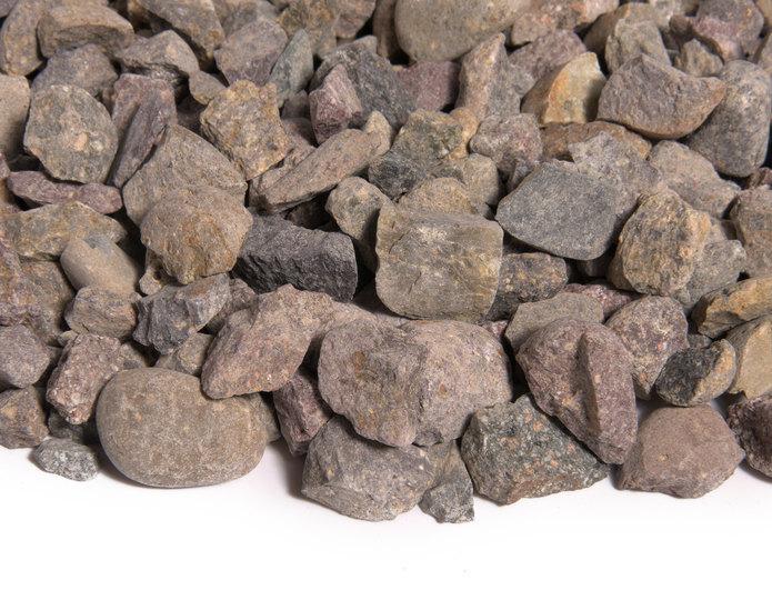 Indian Summer crushed stone rock in bulk at rock yard 2