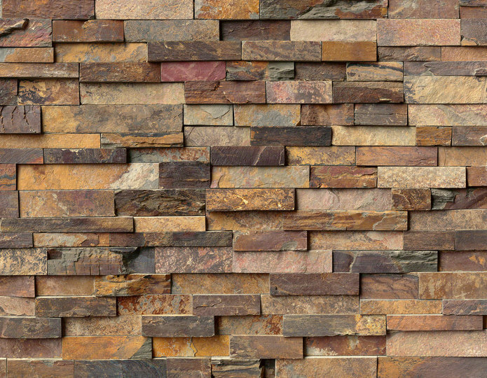 Natural California Gold Stone Veneer Natural Ledgestone on rock wall project