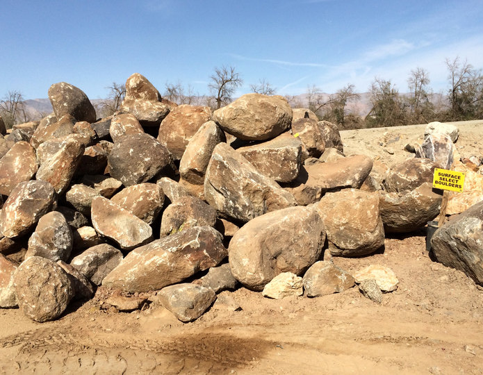 Surface Select landscape boulders in rock yard 2