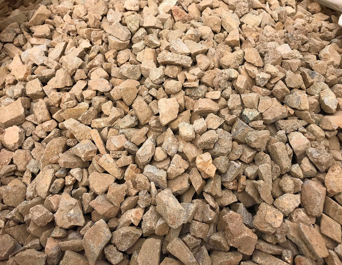Cherokee gold crushed stone in bulk at rock yard 3