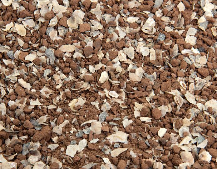Red Bocce Blend landscape groundcover in bulk at rock yard 2