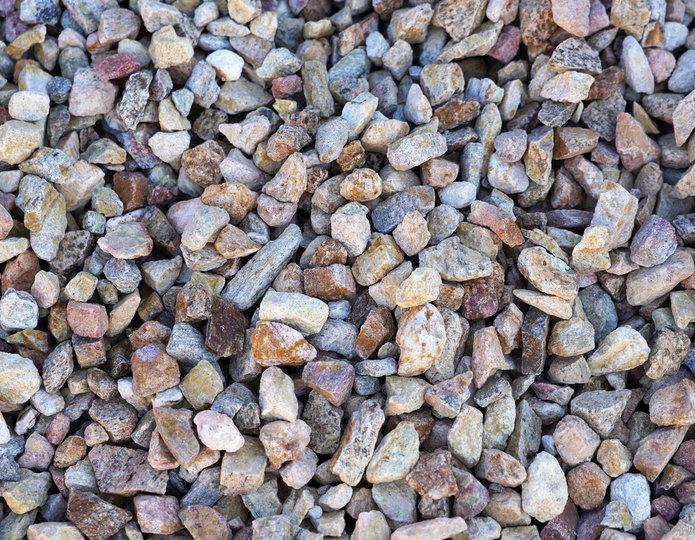 Palm Springs Gold crushed stone rock in bulk at rock yard