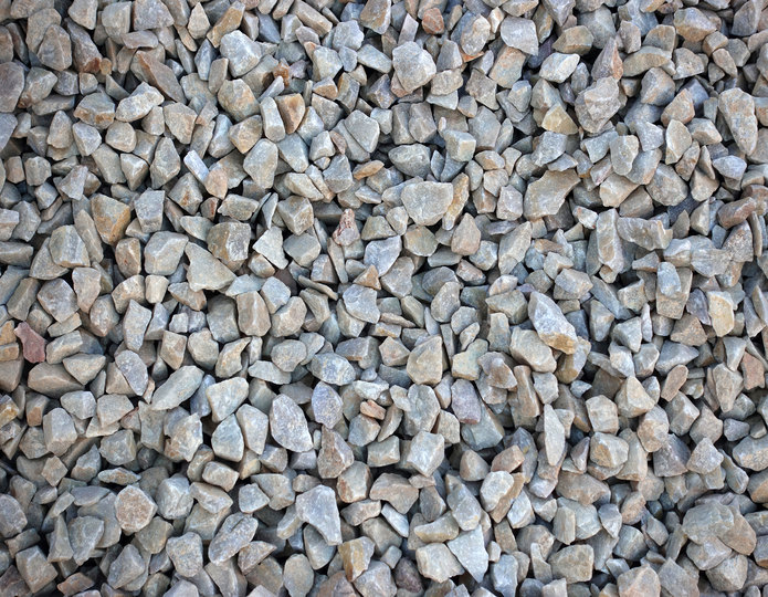 Apache Sunset crushed stone rock in bulk at rock yard