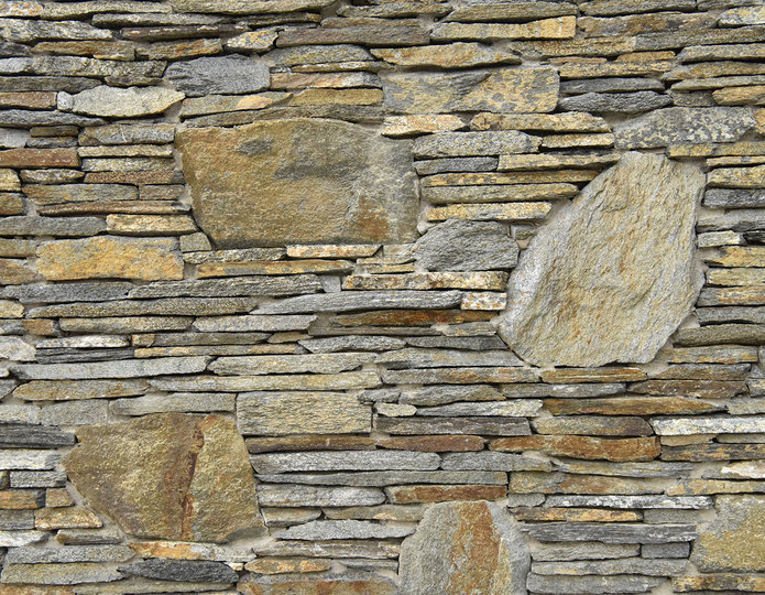 Red Mountain Archalyte Stone Veneer Natural Ledgestone on rock wall project