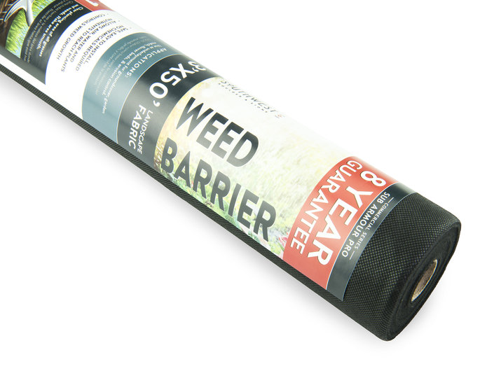 Landscape fabric weed barrier in bulk at rock yard 2