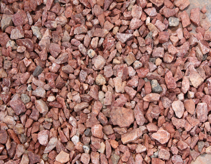 Sienna Sunset crushed stone rock in bulk at rock yard