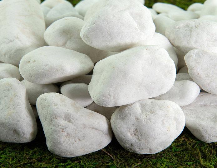 Porcelain landscape cobblestone pebbles close up in rockyard