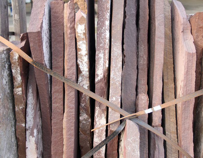 Arizona Chocolate natural flagstone patio pavers in bulk at rock yard 3