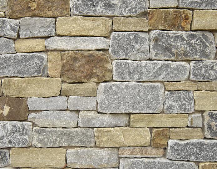 Woodland Stream Stone Veneer Natural Ledgestone on rock wall project