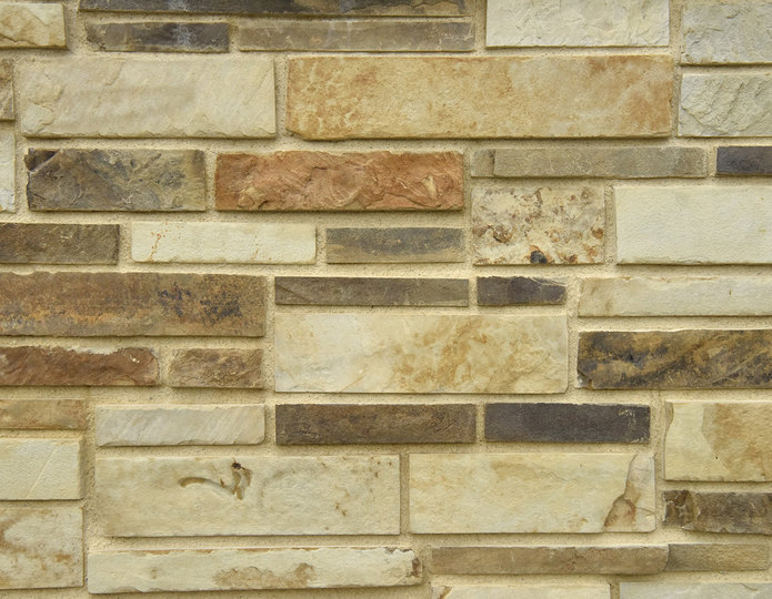 Sonora Stone Veneer Natural Ledgestone on rock wall project
