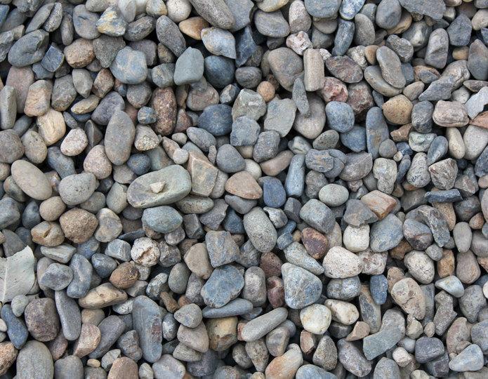 Dos Rios landscape pebble in bulk at rock yard