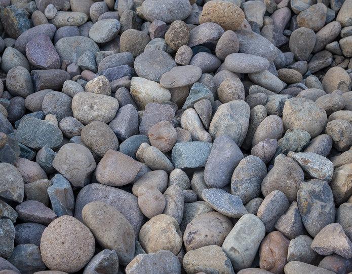 Mission landscape cobblestone pebble in bulk at rock yard