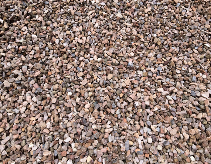 Apache Brown crushed stone rock in bulk at rock yard 2