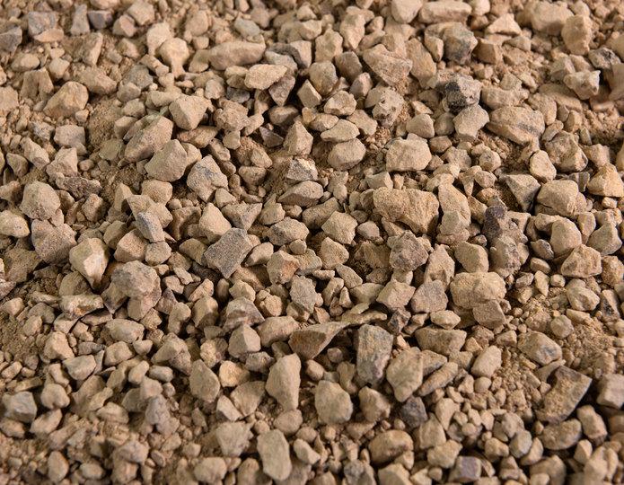 Golden Fawn decomposed granite fines in bulk at rock yard
