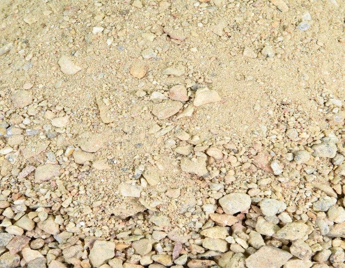 Palm Springs Gold decomposed granite fines in bulk at rock yard