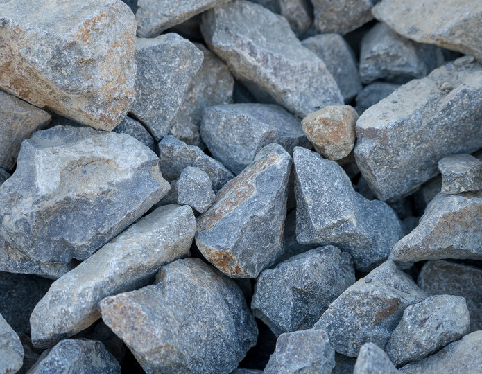 Cresta crushed stone rubble in bulk at rock yard 3