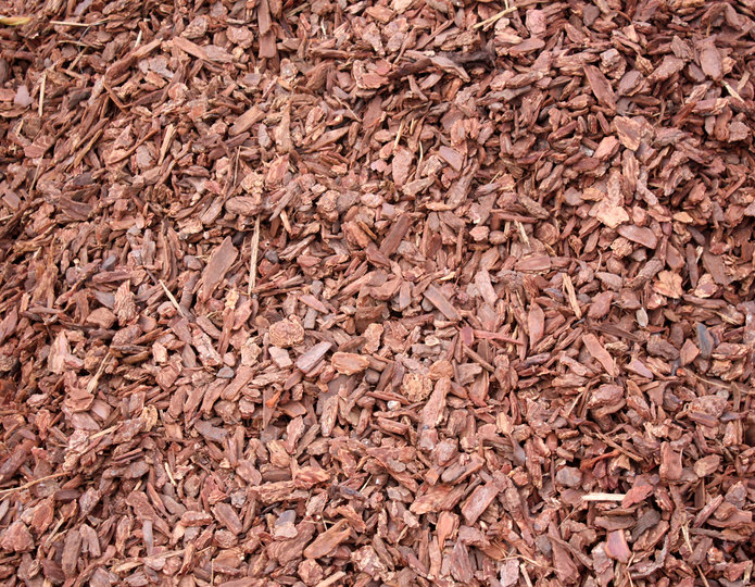Montana Bark Nuggets landscape mulch groundcover in bulk at rock yard
