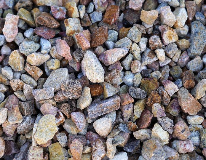 Palm Springs Gold crushed stone rock in bulk at rock yard 3