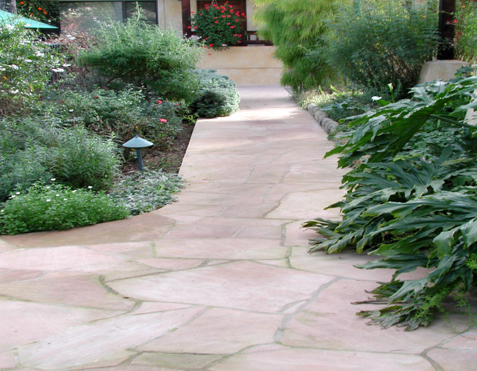Arizona Rosa natural flagstone patio paver stepping stones patio and walkway