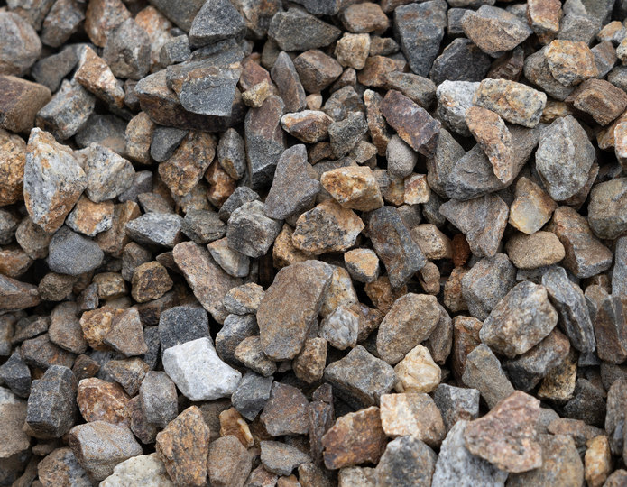 Copper Canyon crushed stone rock in bulk at rock yard 2