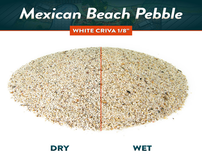 criva mexican beach pebble white wet and dry comparison