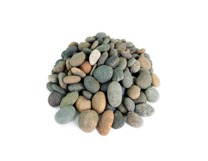 Mixed Mexican Beach Pebble landscape cobblestone pebble in bulk at rock yard