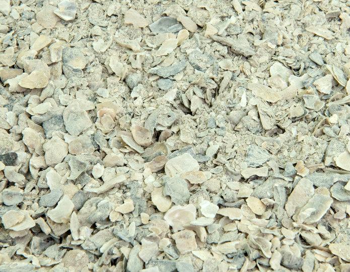 White Bocce Blend landscape groundcover in bulk at rock yard 3