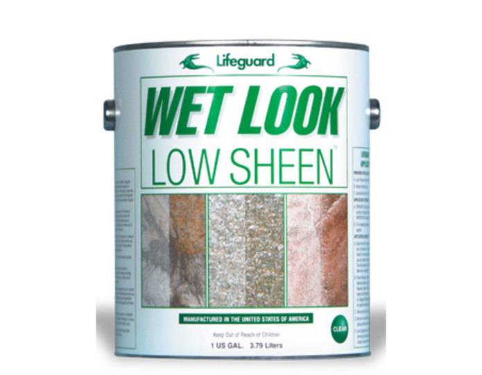 Wet look sealer - low sheen