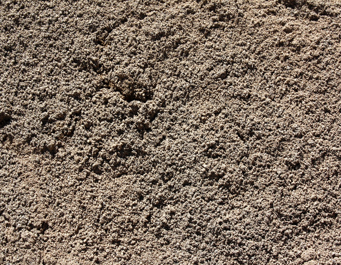 Washed concrete sand in bulk at rock yard